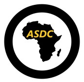 Map of Africa icon black color in circle round vector illustration